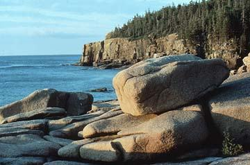 Rocky coastline of Acadia Nat'l Park as shown on the NPS website.