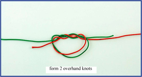 Double surgeon s knot favorite knots for sports love for Surgeon s knot fishing