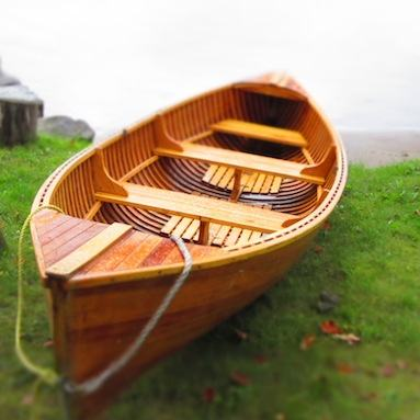 A canoe waiting to be paddled