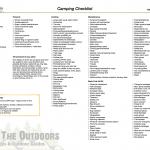photograph about Printable Camping Checklist identify Tenting Record Delight in The Outside the house